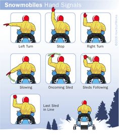 Snowmobiling Hand Signals