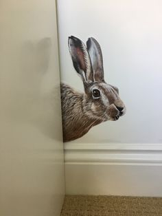 Wall sticker/decals taken from my original painting. Vinyl Wall Stickers, Vinyl Wall Art, Wall Decals, Hartley Hare, Photo Reference, Original Paintings, Sculptures, Gems, Crystals