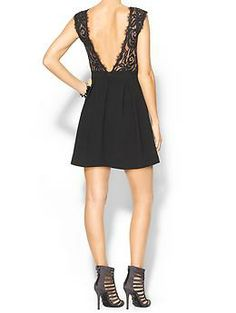 BCBGeneration Lace Inset Dress