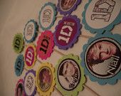 One Direction Stickers / Envelope Seals Favors - Create your own goody bag, invites, cupcake toppers, etc.. $5.00, via Etsy.
