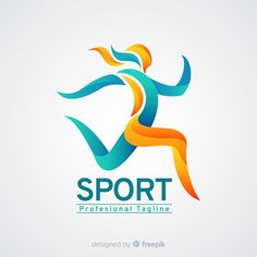 Sport logo template with abstract shapes Vector Logo Esport, Logo Branding, Corporate Branding, Sport Logos, Globe Logo, Photography Logo Design, Typographic Logo, Fitness Logo, Fashion Logo Design