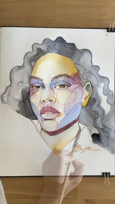 argylaee - 0 results for art Illustration Art Drawing, Art Drawings Sketches, Watercolor Art Face, Watercolor Paintings, Watercolor Portrait Tutorial, Portrait Paintings, Instalation Art, Art Sketchbook, Aesthetic Art
