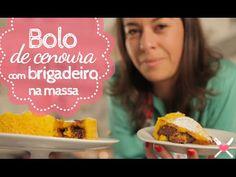 Receita de Bolo de Cenoura com Brigadeiro - Como fazer Bolo de Cenoura c...