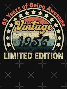 65th Birthday Gift, Birthday Shirts, Happy Birthday, T Shirt, Gifts, Vintage, Happy Brithday, Supreme T Shirt, Tee Shirt