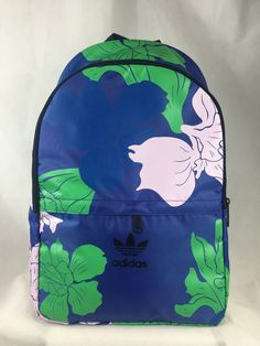 Adidas Floral Engraving Essentials Backpack Blue/Green