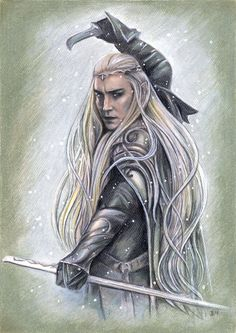 """Middle-earth: #Thranduil (#Lee #Pace), """"The Hobbit."""" """"Ready for Battle,"""" by jankolas, at deviantART."""