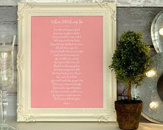 Items similar to Poem Printable Where I'll Always Be Wedding Gifts For Groom, Bride Gifts, Wedding Ceremony, Our Wedding, Wedding Poems, You Poem, Letter To Yourself, Poems Beautiful, Always Be