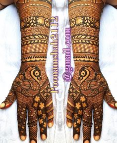 No photo description available. Indian Henna Designs, Mehndi Designs Book, Full Hand Mehndi Designs, Modern Mehndi Designs, Mehndi Design Pictures, Wedding Mehndi Designs, Dulhan Mehndi Designs, Mehndi Patterns, Mehndi Images