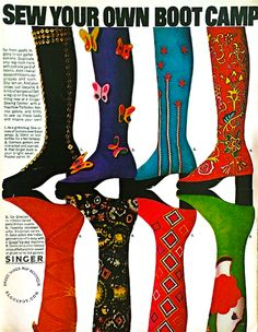 How very fun! I wish it was 1971 this week so I can wear a pair of gaiters!! SWEET JANE: Sew Your Own Boot Camp 1971
