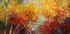 Autumn forest fine art print on canvas of original landscape