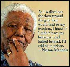 Loslaten...zo'n wijze man die Mandela!