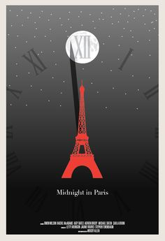 "Image of 2012 Best Picture Nominee ""Midnight in Paris"" poster"