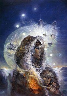 shaman the paintings of susan seddon boulet Native American Proverb, Native American Wisdom, Spirit Art, Art Visionnaire, Goddess Art, Soul Art, All Nature, Animal Totems, Visionary Art
