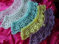 Crochet Collar Shells With One Button By Crocheting Ideas