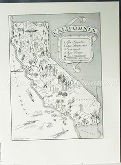 vintage map - inspiration