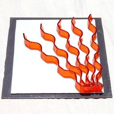 Flames- could do this with the ripple mould, make 3D art in a shadowbox