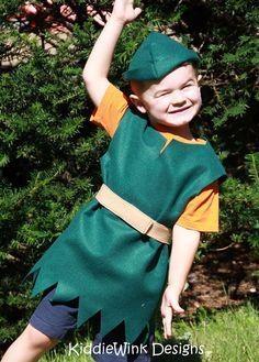 Peter Pan / Robin Hood costume for kids. $22.00, via Etsy.