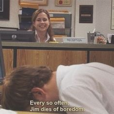 Jim is just soooo me I swear. Michael Scott, Tv Show Quotes, Film Quotes, Office Jokes, The Office Show, I Love Cinema, Mood Pics, Reaction Pictures, Mood Quotes