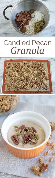 The perfect fall granola recipe to make at home! The perfect fall granola recipe to make at home! Healthy Breakfast Recipes For Weight Loss, Healthy Breakfast Meal Prep, Homemade Breakfast, Breakfast Ideas, Fall Granola Recipe, Brunch Recipes, Snack Recipes, Snacks, Homemade Cereal
