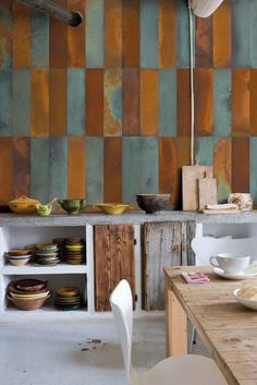 Panoramic wallpaper CRUDE Giocoadue Collection by Inkiostro Bianco design Giocoadue