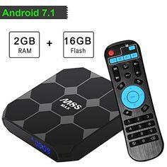 2GB RAM SUNNZO TX3 MAX Android 7.1 TV Box Streaming Media Player con Amlogic Original S905W Quad-Core 16GB ROM Samsung eMMC y Bluetooth 4.1,WiFi,4K,H.265