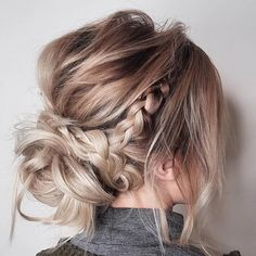 Have no new ideas about updo hair styling? Find out the latest and trendy updo hairstyles and haircuts. Have no new ideas about updo hair styling? Find out the latest and trendy updo hairstyles and haircuts in [Read the Rest] → Updos For Medium Length Hair, Mid Length Hair, Medium Hair Styles, Short Hair Styles, Casual Updos For Long Hair, Hair Styles For Formal, Medium Hair Updo, Formal Bun, Bridesmaid Hair Medium Length
