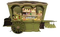 Laduree Airport cart Charles de Gaulle International airport Paris, France