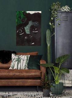 Bohemian Style Rooms, Bohemian Interior, Bohemian Apartment, Bohemian Decor, Bedroom Green, Bedroom Decor, White Bedroom, Dark Green Rooms, Gothic Themes
