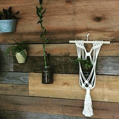 Hangs on a 12 inch dowel approximately 26 inches from hanger to fringe Can be used to hang plants, succulents, LED candles or mason jar with fresh cut flowers Easy to decorate your home, wedding or outdoor space using this piece For a variety of hangers please visit here for our