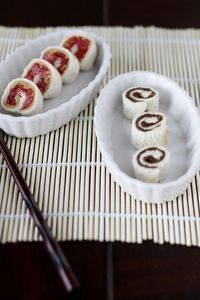 """Kid friendly sushi! Could also be a cute """"snail"""" snack if studying snails with preschoolers."""