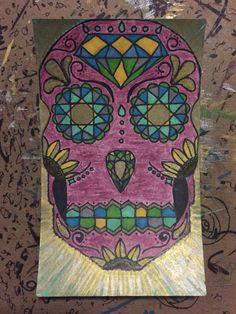 Sunny  #SugarSkull #Sharpie #ColoredPencils #art