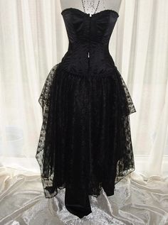 A beautiful handmade item from darkestdreams  The corset is not for sale  This is an old school goth skirt, boho gypsy cinderella one of my best
