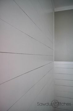 DIY:: Faux Ship Lap plank Walls ! One-Fourth the Normal Cost !