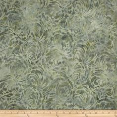Designed by Lunn Studios for Robert Kaufman Fabrics, this Indonesian batik fabric has beautiful colorations and is perfect for quilts, craft projects, home decor accents and apparel. Colors include sage and cream.
