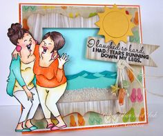 Girlfriends Cracking Up 4 pc Set L@@K @Linda Hughes ART IMPRESSIONS RUBBER STAMPS HAPPY 29TH BIRTHDAY FROM YOUR 110 POUND FRIEND