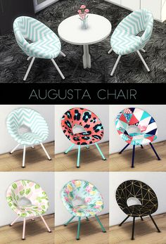 Objects: Augusta Chair from Kenzar Sims The Sims 4 Pc, Sims Four, Sims 1, Los Sims 4 Mods, Sims 4 Game Mods, Sims Baby, Sims 4 Toddler, Muebles Sims 4 Cc, The Sims 4 Cabelos