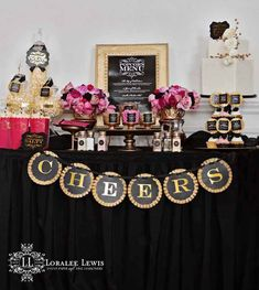 This popcorn bar setup by Loralee Lewis is perfect for an Oscars viewing party but could also work well for a bridal shower or wedding reception. | http://www.loraleelewis.com/blog/?p=19293