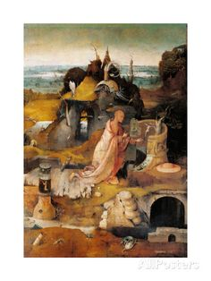 Hermit Saints Triptych, by Hieronymus Bosch, Doges Palace, Venice, Italy par Hieronymus Bosch . Renaissance Artists, Hieronymus Bosch, Heaven And Hell, Fantastic Art, Triptych, Cool Posters, Sculptures, Poster Prints, Canvas Art