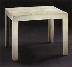 The Parsons Table, designed by Jean Michel Frank in the 1930s.