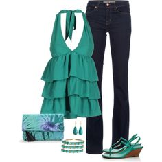 """Ruffled Halter"" by kp802 on Polyvore"