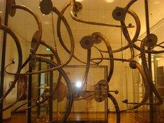 Collection of Lurs, spectacular bronze music instruments, still giving sound when blown