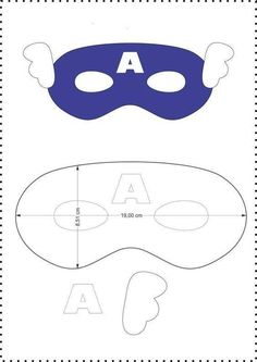 Beautiful masks for children& parties from felt - Free templates ★★ â . Captain America Maske, He Man Tattoo, Anniversaire Captain America, Superhero Mask Template, Diy For Kids, Crafts For Kids, Felt Mask, Superhero Birthday Party, Batman Party