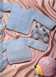 """Photo from album """"Especial Bebes on Yandex. Baby Sweater Knitting Pattern, Knitting Patterns Free, Free Pattern, Knitting For Kids, Baby Knitting, Knit Or Crochet, Crochet Baby, Knitted Baby Clothes, Baby Socks"""