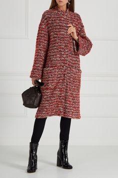 Пальто из шерстяного букле Moscow-Paris Sophie&Eva - Пальто от Sophie&Eva сшито из плотной шерсти в красную клетку с буклированной поверхностью в интернет-магазине модной дизайнерской и брендовой одежды