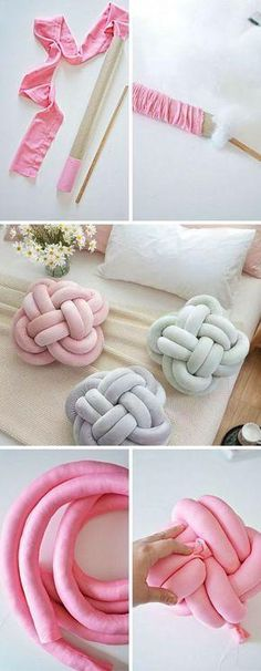 Try This DIY Knot Pillow! It is Effortless And Costs Almost Nothing (Posts by Concilia Banda) Must Try This DIY Knot Pillow! It is Effortless And Costs Almost NothingMust Try This DIY Knot Pillow! It is Effortless And Costs Almost Nothing Fun Crafts To Do, Diy Home Crafts, Easy Crafts, Easy Diy, Diy Para A Casa, Knot Pillow, Knot Cushion, Diy Y Manualidades, Sewing Projects