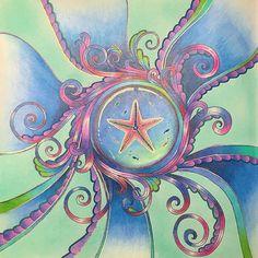 Ornate starfish #lostocean #johannabasford #adultcoloring #lostoceancoloringbook