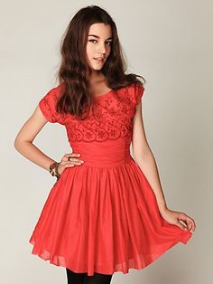 Short Sleeve Eyelet Garden Day Dress