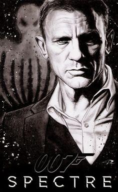 Daniel Craig as James bond 007 in SPECTRE teaser .  Art by Pat Art #jamesbond #spectre #007
