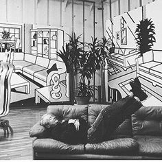Art History. Roy Lichtenstein in his studio. Lichtenstein was born on October 27, 1923 in a Jewish family. As a boy he was not a comic book fan although later, comic strips would provide inspiration for his best works. Initially he worked in Cubism and Abstract Expressionism. By late 1950s, however, his works included hidden images of cartoon characters. His 1961 painting Look Mickey is regarded as the bridge between his Abstract Expressionism and Pop Art works...