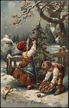 Decorating the Tree | by glenbowmuseum 1908